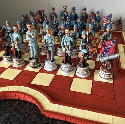 CHESS SET - Civil War Design - Handcrafted. PICK UP ONLY FROM COOMERA QLD 4209.