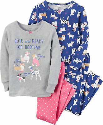 Carters Little Girls 4-pc. Ready For Bedtime Dog Pajama Set