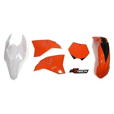 Ktm125 Exc 2008 - 2011 Racetech Black Orange Plastics Kit - Ktm 125 Exc