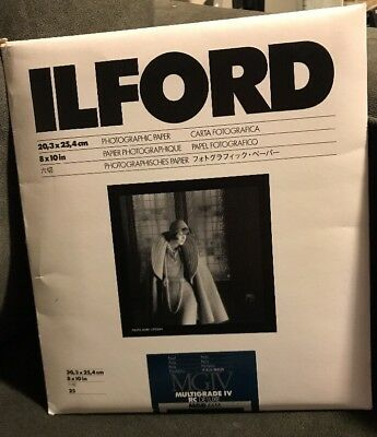 ILFORD Multigrade IV RC Deluxe MGD.44M B&W 8x10 Paper - 25 Sheets - Pearl