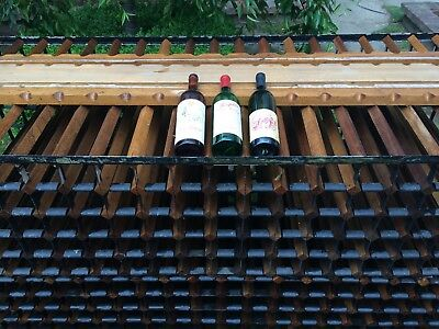 400+ Bottle Timber Wine Rack ex vintage cellars display comes in two parts used