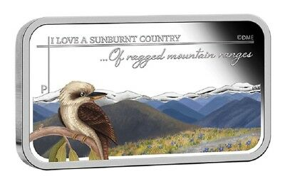 2015 $1 Sunburnt Country - Ragged Mountain Ranges - 1oz Silver Proof Coin