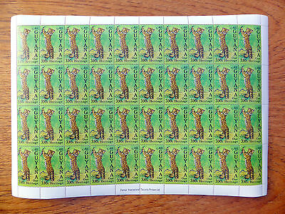 GUYANA Wholesale 1985 Wildlife 330c in Complete Sheet of 40 LOWER PRICE FP2441