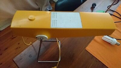 yellow retro desk lamp