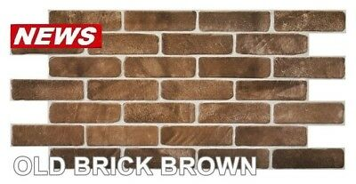 PVC Plastic Wall Panels 3D Decorative Tiles Cladding - OLD BRICK BROWN