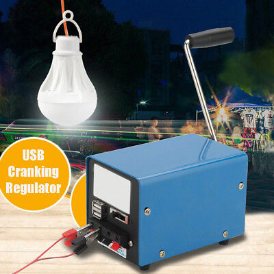 Portable Hand Crank Emergency USB Charger Generator SOS Camping Outdoor Survival