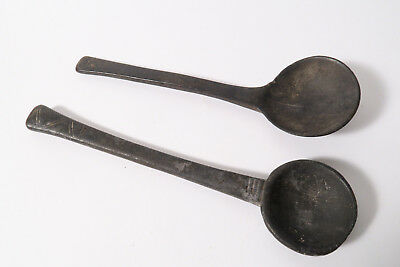 2 alte Löffel Senufo Used old wooden spoons Senoufo Cuiller Afrozip