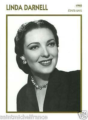 LINDA DARNELL ACTRICE ACTRESS FICHE CINEMA USA 90s