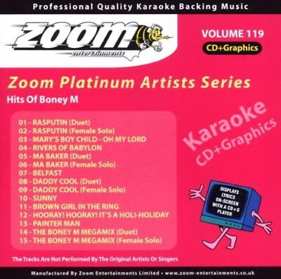 Zoom Karaoke Platinum Artists Vol. 119 CD+G - Hits Of Boney M