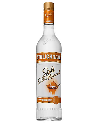 Stolichnaya Salted Karamel Vodka 700mL case of 6 Flavoured Vodka