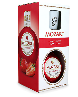 Mozart Strawberry 500mL Glass Pack bottle Chocolate Liqueur