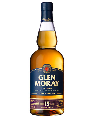 Glen Moray 15 Year Old Whisky 700mL case of 6 Single Malt Scotch Whisky