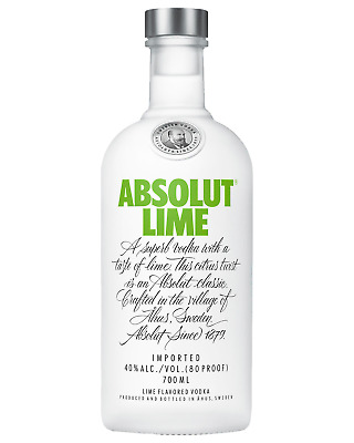Absolut Lime Vodka 700mL case of 6