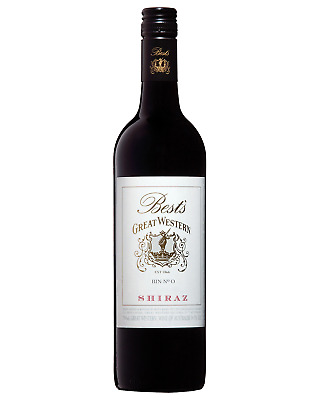 Best's Great Western Bin 0 Shiraz 2012 case of 6 Dry Red Wine 750mL Grampians