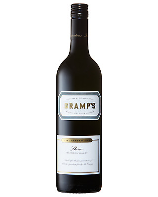 Gramps Shiraz 2011 case of 6 Dry Red Wine 750mL Barossa Valley