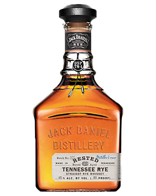 Jack Daniel's 2YO Rested Rye Whiskey 700mL case of 6 American Whiskey