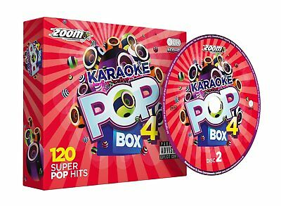 Zoom Karaoke Pop Box 4 - 6 CD+G Set - 120 Super Pop Hits - New!