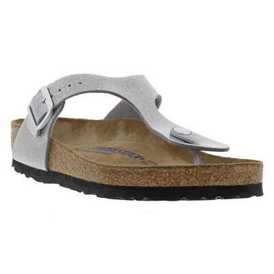 f5ff2250b33 Birkenstock Gizeh Soft Footbed Regular Birko Flor Womens Sandals Size UK  3.5-7.5