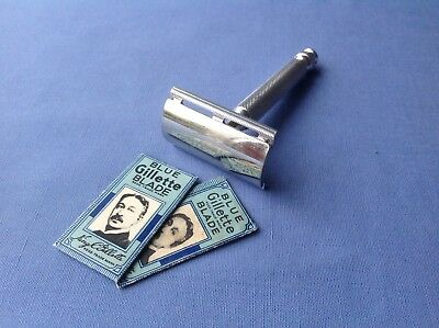 1950s GILLETTE BALL-END TECH ALUMINIUM RAZOR; DE; made in England