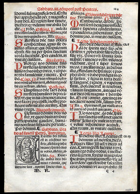 Roman Missal Leaf  Whit Saturday Prophet Joel Leviticus Deuteronomy Catholic