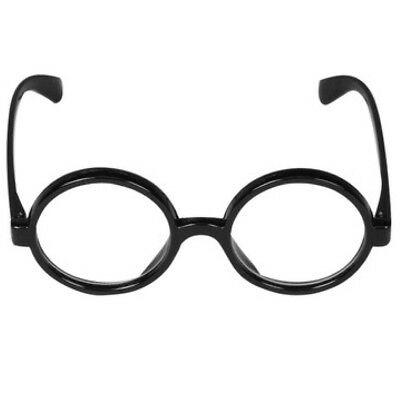 Wizard Glasses Clear Lens Geek Wheres Wally Round Glasses Fancy Dress Accessory
