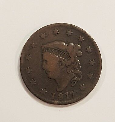 1817 Liberty Head, * LARGE CENT, US Penny - No Reserve - Starting at $0.01