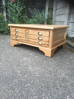 Fine Ercol Colour Oak Plan Chest/coffee Table Fab Condition Delivery Available