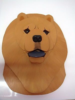 Wood Chow Chow Collectible Wall Ornament  By K. Chamberlain
