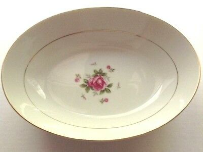 "10"" Oval Vegetable Bowl Gemini Rose by Fine China of Japan"
