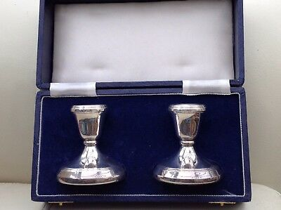 A Pair Of Boxed Silver Candlesticks, 1988/89