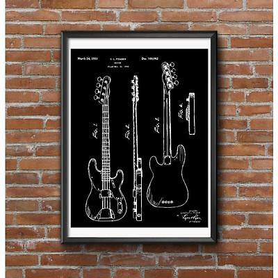 Leo's Bass Patent Poster - World's First Commercially Successful Electric Bass