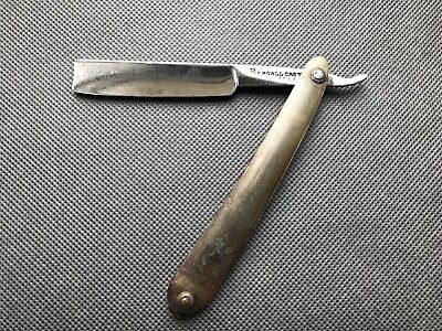 Vintage Straight Razor BENGALL with horn scales