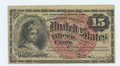1863 - US 15 Cent Fractional Currency 4th Issue - XF-AU - #13306