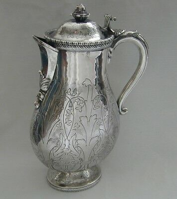 RARE HEAVY SILVER EWER. Mark not clear, SPANISH 1730? SIMILAR TO SOTHEBY'S LOT.