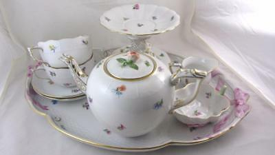 Herend Hungary Tea Service Porcelain Hand Painted 12 Pieces Kimberly Mille Fleur
