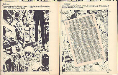 Buried Treasure #3 Inside DPS Cover with Note - 1987 Signed art by Alex Toth