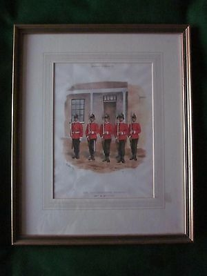 GLOUCESTER REGIMENT 28th and  61st Foot Vintage Victorian Lithograph Print