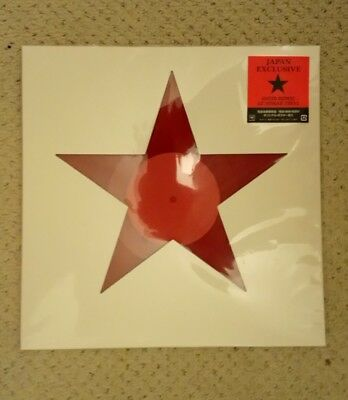 David Bowie Blackstar Japanese limited edition red vinyl 12 inch single