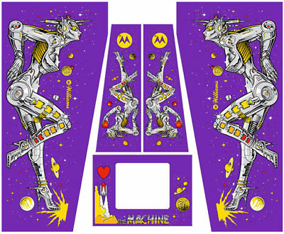 Bride Of Pinbot The Machine Pinball Machine Cabinet Decals - NEXT GEN - LICENSED