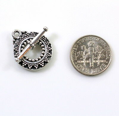 1 Set 6712 TierraCast Clock and Bar Toggle Clasp Sets,Antiqued Silver Plate
