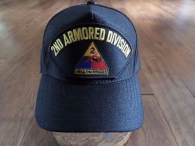 U.s Army 2Nd Armored Division Hat U.s Military Official Ball Cap U.s.a Made
