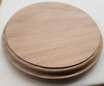 display base round  solid oak 4 inch 102mm display size