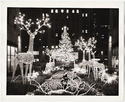 SUPER Orig Photo Rockefeller Center New York NY Christmas 1950 Edward Ratcliffe