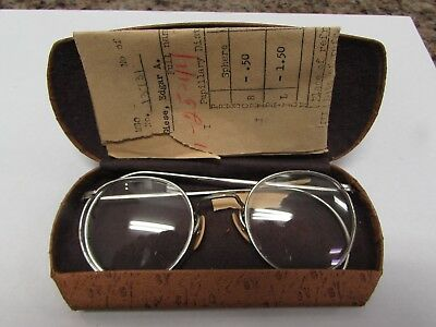 WWII U.S. Army issue glasses ID'ed to 772nd tank battalion soldier w/case.