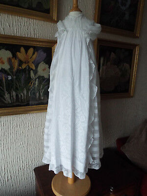 Vintage Lawn  Baby  Christening Gown/embroidered Skirt