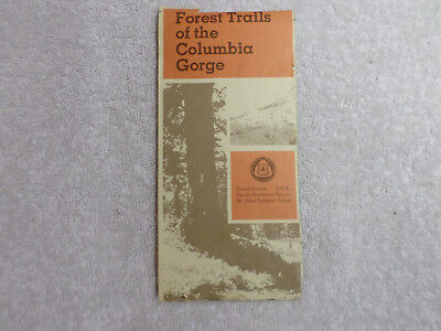 Vintage USDA Forest Trails of the Columbia Gorge Map, Mt.Hood National Forest