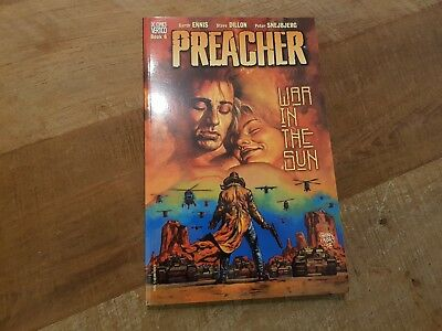 Preacher Graphic Novel Vertigo Paperback Book 6 War in the Sun Garth Ennis