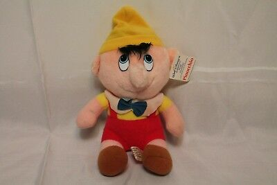 VTG Pinocchio puppet Walt Disney's Plush Toy Animated Film Classic Stuffed tags