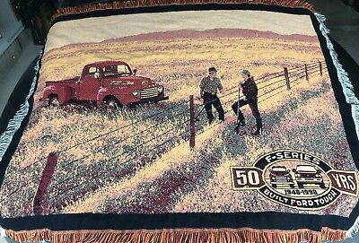 Ford F-Series Truck 50 Years Commemorative Throw Blanket