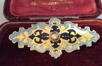Vintage Jewellery Lovely French enamel Catherine Popesco signed brooch
